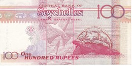 BILLETE DE SEYCHELLES DE 100 RUPEES DEL AÑO 2001  (BANKNOTE) TORTUGA-TURTLE - Seychelles
