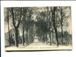 CP - Preuilly Sur Claise   (37) Avenue Leon Berthier Et La Gare - France