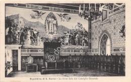 Cartolina Repubblica San Marino Gran Sala Del Consiglio Generale - San Marino