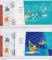 GREECE(A) FDC ATHENS 2004:OLYMPIC GAMES MASCOT/ SHEETLETS FROM BOOKLET-CV:180,0 EURO  -9/5/03-RARE!!!