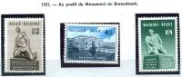 N° 860-862 XX - 1951 - Belgium