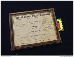 RARE PANNEAU DEFENSE PASSIVE SIRENES  & ABRI  - BREST - Equipment
