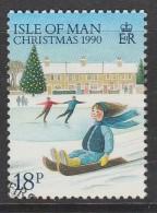 Isle Of Man 1990 Christmas 18p Multicoloured Used