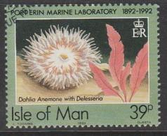 Isle Of Man 1992 Port Erine Marine Laboratory, 1892-1992 39p Multicoloured Used