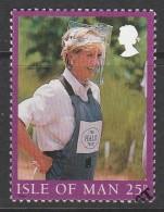 Isle Of Man 1998 The Death Of Princess Diana 23p Multicoloured Used