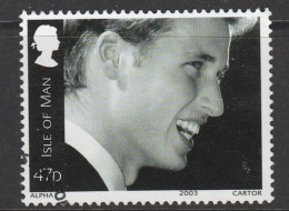 Isle Of Man 2003 The 21st Anniversary Of The Birth Of Prince William, 1982 47p Multicoloured Used