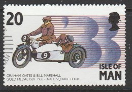 Isle Of Man 1993 Motorcycles - Racers And Their Bikes 20p Multicoloured Used
