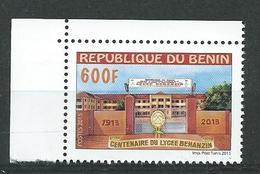 157 TPE - BENIN - 2013 - NEUF - CENTENAIRE DU LYCÉE BEHANZIN - Bord De Feuille