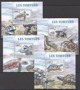 C9 2013 BURUNDI REPTILES LES TORTUES TURTLES 4LUX BL MNH