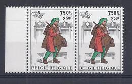 BELGIE-BELGIQUE 2072 Curiositeit - Rode Streep Zegelbeeld Links - Variétés Et Curiosités