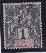 Inde N° 1 Neuf * - India (1892-1954)