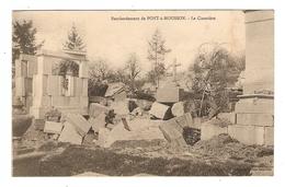 54 - MILITARIA PONT A MOUSSON LE CIMETIERE - CORRESPONDANCE MILITAIRE - 2 Scans - - Pont A Mousson