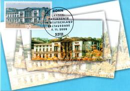 """BRD Maximumkarte """"Landtag Des Saarlandes, Saarbrücken"""" Mi 2153 ESSt 9.11.2000 BONN - Maximum Cards"""