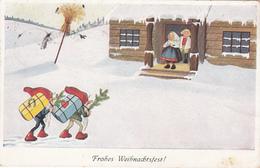 Frohes Weihnachtsfest! Zwerge Bringen Geschenke - Christmas