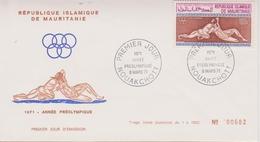 FDC MAURITANIE 1971 Année Préolympique