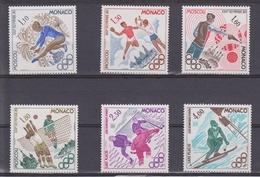 MONACO 6 TIMBRES Des  JEUX OLYMPIQUES DE MOSCOU Et De LAKE PLACID 1980