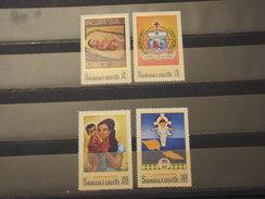 SAMOA - 1970 QUADRI NATALE  4 VALORI - NUOVI(++) - Samoa