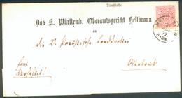 Württemberg Brief Mit Mi.-Nr.101 Als EF Orig. Gelaufen Heilbronn 21. Sept. 1877 Nach Osnabrück