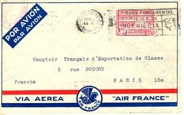 Air France Lettre Uruguay 1938 - Kommerzielle Luftfahrt