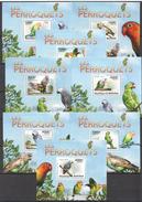 C31 2011 BURUNDI FAUNA BIRDS LES PERROQUETS PARROTS 8BL MNH