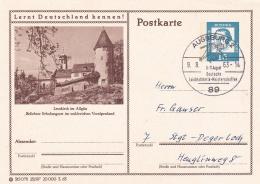 Germany Postal Stationary P/m Augsburg 1963 Deutsche Leichtathletik- Meisterschaften (T9A7)