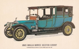 Car: 1912 Rolls-Royce Silver Ghost - Collectors Reproductions Postcard Mint (T9A7)