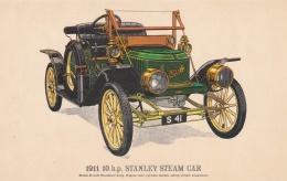 Car: 1911 Stanley Steam Car - Collectors Reproductions Postcard Mint (T9A7)