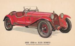 Car: 1932 Alfa Romeo - Collectors Reproductions Postcard Mint (T9A7)