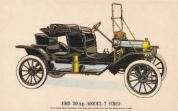 Car: 1910 Model T Ford  - Collectors Reproductions Postcard Mint (T9A7)