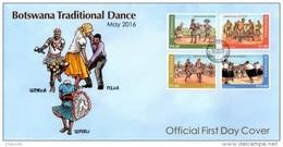 Botswana - 2016 Traditional Dance FDC - Botswana (1966-...)