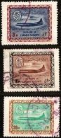 Saudi Arabia 1963, Airmail Stamps Type Convair 3 Values Cancelled Saoudi Arabie