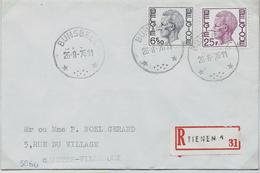 Doc. De  BUNSBEEK    Le 26/08/1976  En REc. De Tienen  1 - Postmark Collection