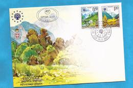 2002  259-60 EUROPA PROTECTION NATURA BOSNIA HERZEGOWINA REPUBLIKA SRPSKA INTERESSANT