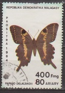 Faune, Insectes, Lépidoptères - MADAGASCAR - Papillon: Papilio Delalandii - Détaché De Bloc - BF N° 27 - 1984