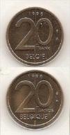 20 Frank 1998  Frans+vlaams * Uit Muntenset * FDC - 04. 20 Frank