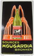 Beau Carton Publicitaire De 1938 Sources Hougardia Hoegaarden Tirlemont - Paperboard Signs
