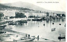 N°45882 -cpa Ajaccio -vue Générale Des Quais- - Ajaccio