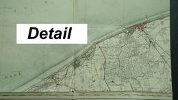 Topografische En Militaire Kaart STAFKAART 1913 Blankenberghe Noordzee Wenduyne De Haan Uytkerke Nieuwmunster - Cartes Topographiques