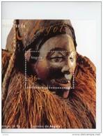Angola 2002-Masques-YT 1516/20+B99***MNH