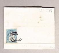 Schweiz Strubel 10Rp Blau Bogenrandstück Zu#23B Auf Brief Aus Altikon (Balkenstempel) Befund Moser Bitte Lesen - Lettres & Documents