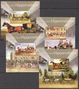 C49 2012 BURUNDI TRANSPORTATION HORSES VEHICULES HIPPOMOBILES 4LUX BL MNH
