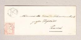 Schweiz Strubel 15Rp Zu#24B Neuchatel 27.6.1857 Auf Brief Nach Zürich Befund Rellstab Bitte Lesen - 1854-1862 Helvetia (Non-dentelés)