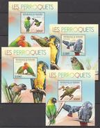 C51 2012 BURUNDI FAUNA BIRDS LES PERROQUETS PARROTS 4LUX BL MNH