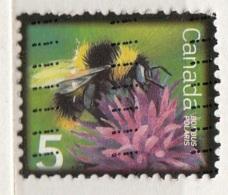 2236 Canadà 2007 Insetti API Calabrone Bees Bombus Polaris Viaggiato Used - Honeybees