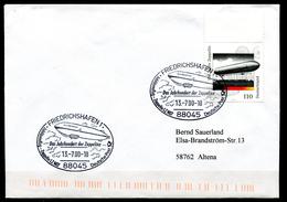 """Germany 2000 Sonderbeleg Luftschiffe,Zeppeline Mit Mi.Nr.2128 U.SST""""Friedrichshafen-Das Jahrhundert Der Zeppelin""""1 Beleg"""