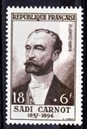 France  991 Sadi Carnot 1954 Neuf ** TB MNH Sin Charnela Cote 26 - Neufs