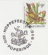 BELGIË/BELGIQUE:Illustr. Date Cancell. On Fragment:  ## 18-6-87 : POPERINGE : Hoppefeesten ## : HOP,HOUBLON,BEER,CRUCHE