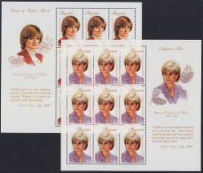 D0160 TANZANIA 1998, Diana Princess Of Wales Commemoration, 2 @ MS  MNH