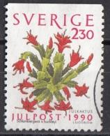 1855 Svezia 1990 Fiori Flowers Schlumbergera Cactus Di Natale Used Sverige Sweden