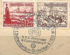 MiNr. 651+ 656 Briefstück, Sonderstempel: BERLIN CHARLOTTENBURG (b30)